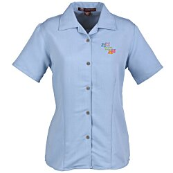 View a larger, more detailed picture of the Harriton Bahama Cord Camp Shirt - Ladies