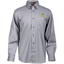 View a larger, more detailed picture of the Harriton Twill Shirt with Stain Release - Men s