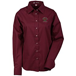 View a larger, more detailed picture of the Harriton Twill Shirt with Stain Release - Ladies
