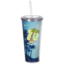 View a larger, more detailed picture of the Spirit Insert Tumbler with Straw - 20 oz