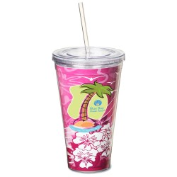 View a larger, more detailed picture of the Spirit Insert Tumbler w Straw - 24 oz - Closeout
