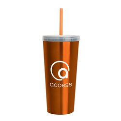 View a larger, more detailed picture of the Stainless Tumbler w Straw - 18 oz