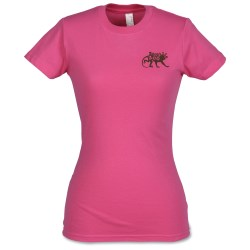 View a larger, more detailed picture of the Anvil Ladies Semi-Sheer Longer Length T-Shirt - Colors