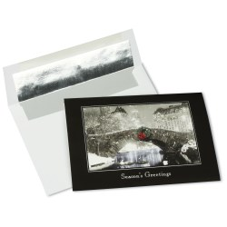 View a larger, more detailed picture of the Snowfall at Night Greeting Card