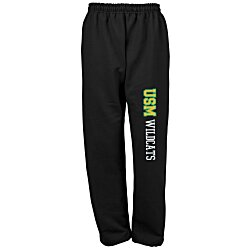 View a larger, more detailed picture of the Gildan 50 50 Open Bottom Sweatpants - Applique Twill