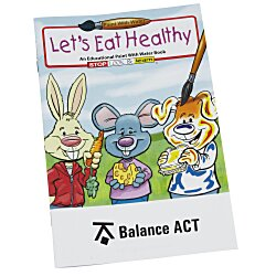 View a larger, more detailed picture of the Paint with Water Book - Let s Eat Healthy