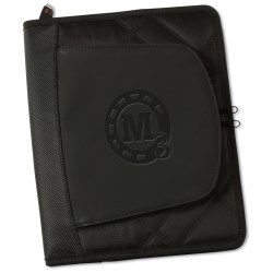View a larger, more detailed picture of the elleven Jr Zippered Padfolio - Debossed