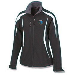 View a larger, more detailed picture of the Color-Block Soft Shell Jacket - Ladies