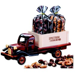 View a larger, more detailed picture of the 1950 s Flat Bed Truck w Almonds & Cashews