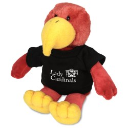 View a larger, more detailed picture of the Mascot Beanie Animal - Cardinal
