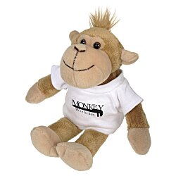 View a larger, more detailed picture of the Mascot Beanie Animal - Monkey