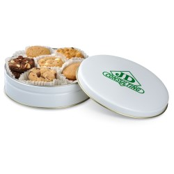 View a larger, more detailed picture of the Mrs Fields Nibblers Bite Sized Cookie Tin - Round