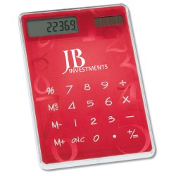 View a larger, more detailed picture of the Sleek-n-Slim Calculator - Numbers Edition - Closeout