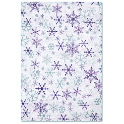 View a larger, more detailed picture of the Tissue Paper - Silver & Purple Snowflakes
