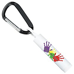 View a larger, more detailed picture of the Value Soy Lip Balm with Carabiner