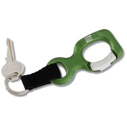 View a larger, more detailed picture of the Aluminum Bottle Shaped Carabiner w Keychain - Closeout
