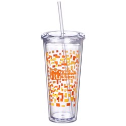 View a larger, more detailed picture of the Spirit Incore Tumbler - 20 oz - Torn Paper