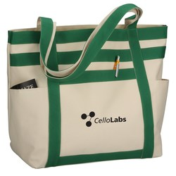 View a larger, more detailed picture of the Rugby Stripe Boat Tote