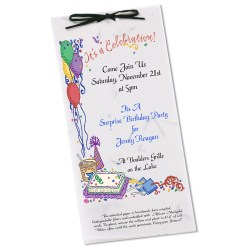 View a larger, more detailed picture of the Seeded Invitation Program - 9 x 4 - Wildflower Money