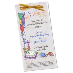 View a larger, more detailed picture of the Seeded Invitation Program - 9 x 4 - Parsley