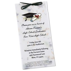 View a larger, more detailed picture of the Seeded Invitation Program - 9 x 4 - Pine Tree
