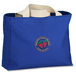 View a larger, more detailed picture of the USA Made Bayside Medium Gusset Tote - Colors - Embroidered