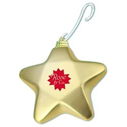 View a larger, more detailed picture of the Shatterproof Ornament - Star - 24 hr