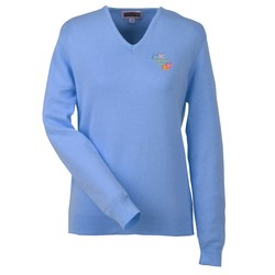 View a larger, more detailed picture of the Ultra-Soft Cotton V-Neck Sweater - Ladies