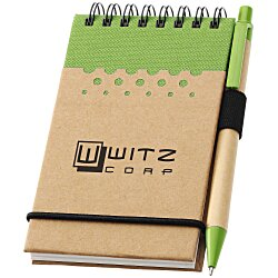 View a larger, more detailed picture of the Dew Drops Recycled Mini Jotter & Pen - 24 hr