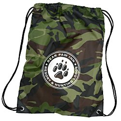 View a larger, more detailed picture of the Drawstring Sportpack - 18 x 14 - Camo
