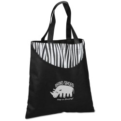 View a larger, more detailed picture of the Designer Print Scoop Tote - Zebra - 24 hr