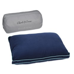 View a larger, more detailed picture of the Brookstone Biosense Memory Foam Travel Pillow