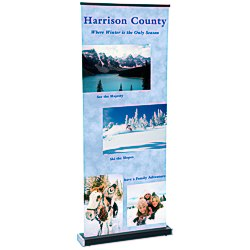 View a larger, more detailed picture of the Square-Off Retractable Banner - 35-3 4