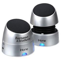 View a larger, more detailed picture of the iHome Rechargeable Mini Speakers