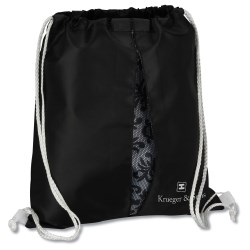 View a larger, more detailed picture of the Peekaboo Print Sportpack - Black Lace - Closeout