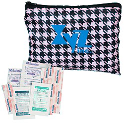 View a larger, more detailed picture of the Fashion First Aid Kit - Houndstooth