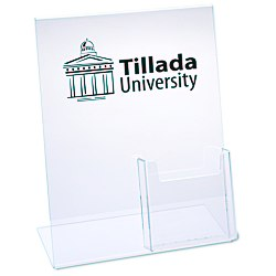 View a larger, more detailed picture of the Sign Holder w Brochure Pocket - 8-1 2 x 11