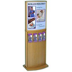 View a larger, more detailed picture of the Convex Deluxe Floor Poster Stand