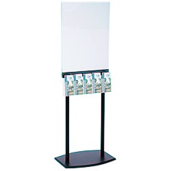 View a larger, more detailed picture of the Floor Poster Stand with 5 Pockets - Black