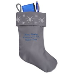 View a larger, more detailed picture of the Frost Star Stocking - Closeout
