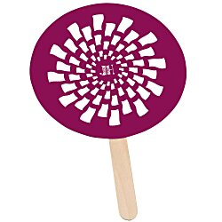 View a larger, more detailed picture of the Mini Hand Fan - Round