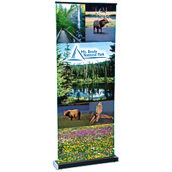 View a larger, more detailed picture of the Square-Off Retractable Banner - 35-3 4 - Replacement Graphic