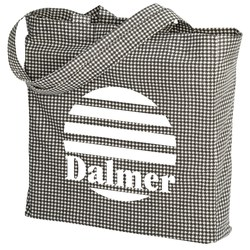 View a larger, more detailed picture of the Printed Gusseted Economy Tote - Closeout