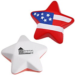 View a larger, more detailed picture of the Patriotic Star Stress Reliever - 24 hr