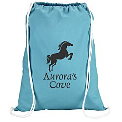 View a larger, more detailed picture of the Colorful Cotton Drawstring Sportpack