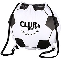 View a larger, more detailed picture of the Game Time Soccer Ball Drawstring Backpack