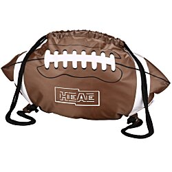 View a larger, more detailed picture of the Game Time Football Drawstring Backpack