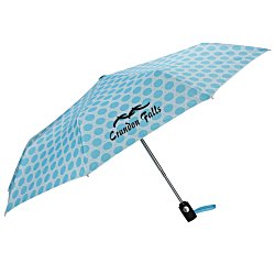 View a larger, more detailed picture of the totes Auto Open Close Umbrella - French Circle