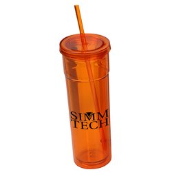 View a larger, more detailed picture of the Torino Spirit Tumbler w Straw - 16 oz - Closeout