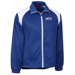 View a larger, more detailed picture of the Harriton Tricot Track Jacket - Men s